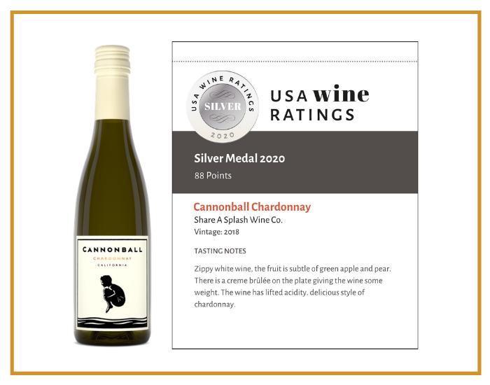 2018 Cannonball Chardonnay shelf talker