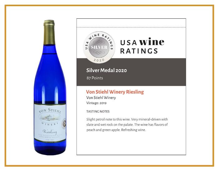 Von Stiehl Winery Riesling 2019 shelf talker