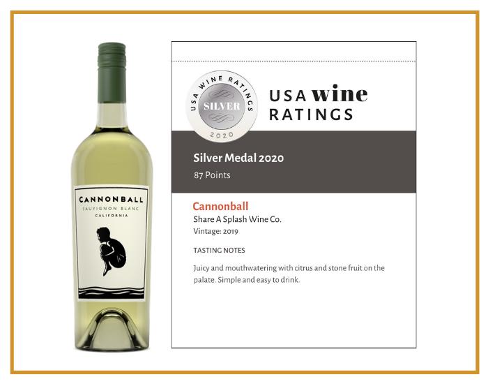 2019 Cannonball Sauvignon Blanc shelf talker