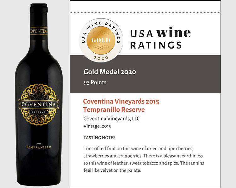 Coventina Vineyards 2015 Tempranillo Reserve shelf talker