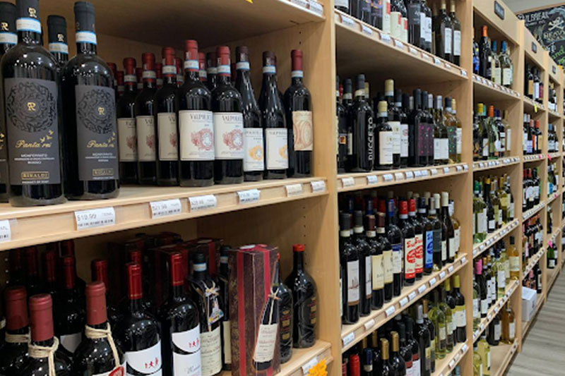 Picture of a wine store in Maryland, USA