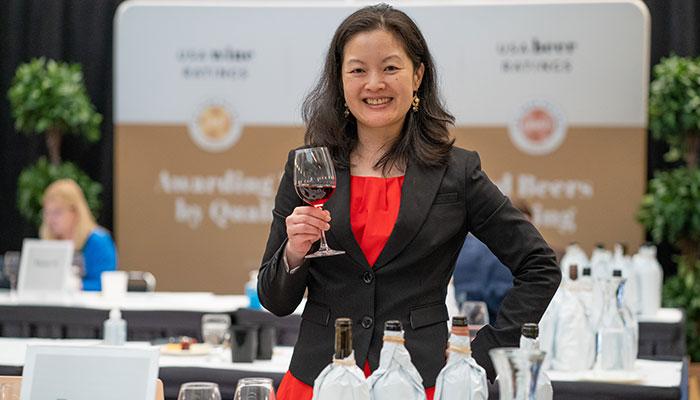 Susan R Lin MW at the 2021 USA Wine Ratings