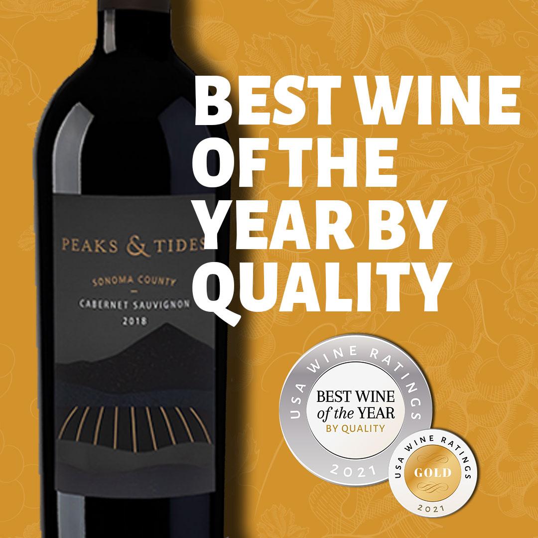 2018 Peaks & Tides Cabernet Sauvignon Best wine by value