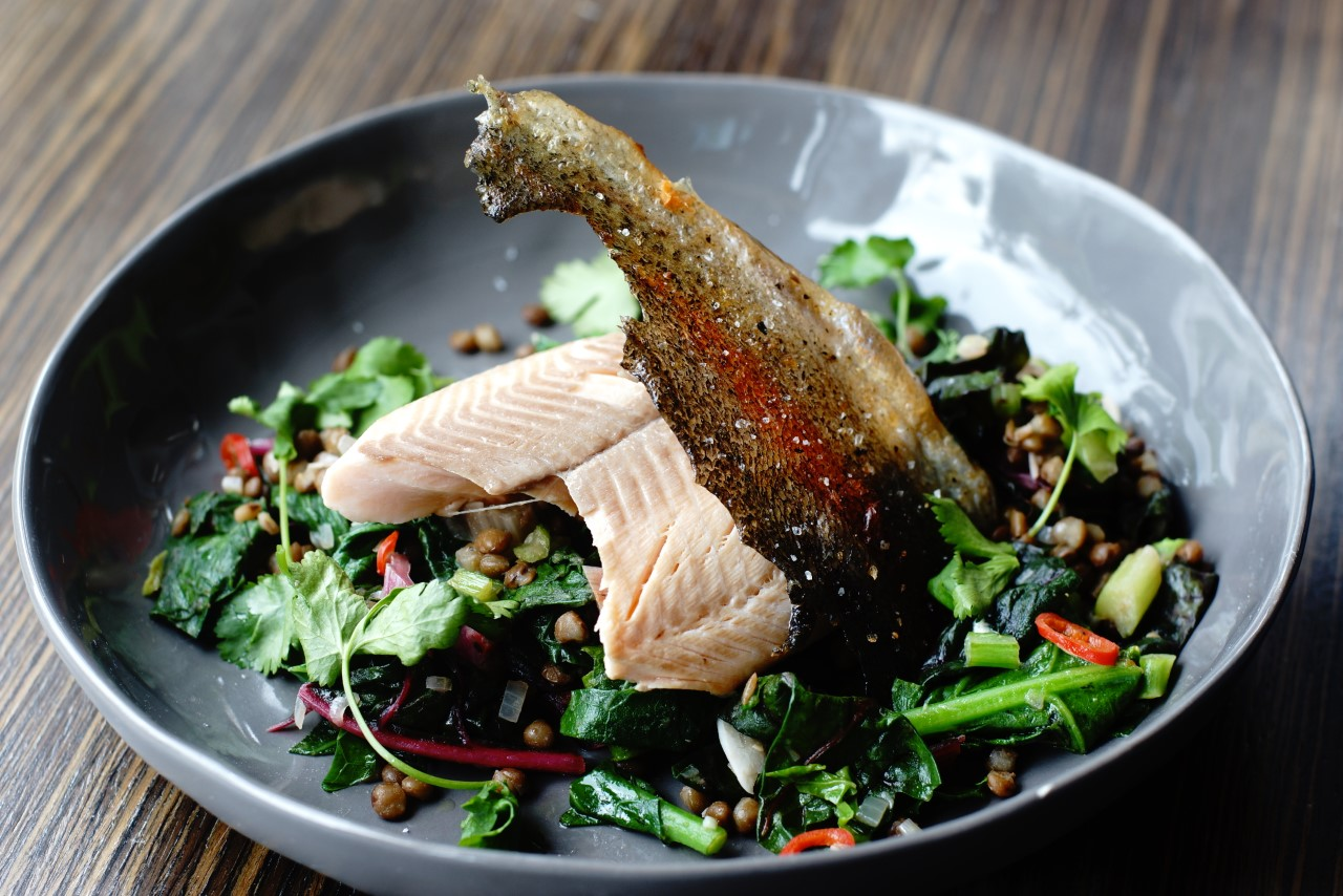 Asian Stir fry with Rainbow Trout